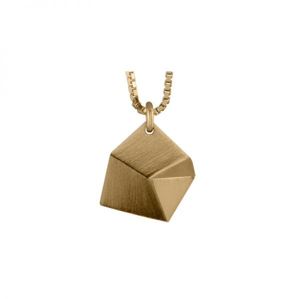 product Flake necklace S gold