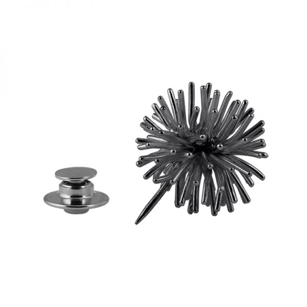 product Pompon brooch oxidized silver