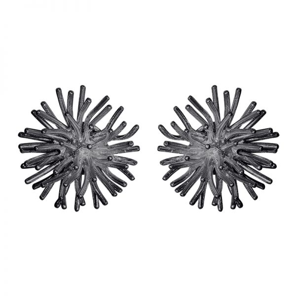 product pompon cufflinks oxidized silver
