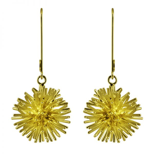 product Pompon earrings gold