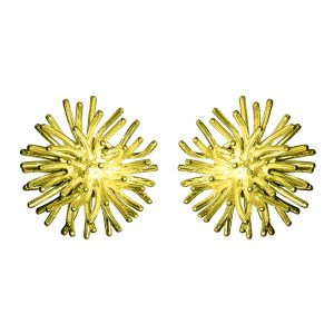 product Pompon stud earrings gold