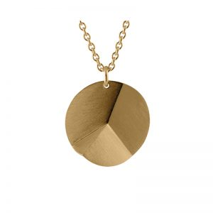 product Flake Round necklace L gold