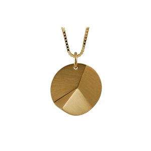 product Flake Round necklace M gold