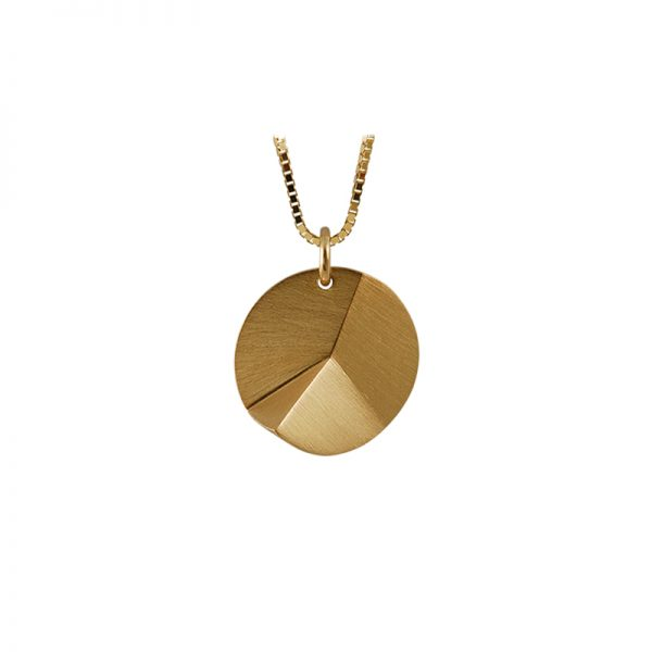 product Flake Round necklace S gold