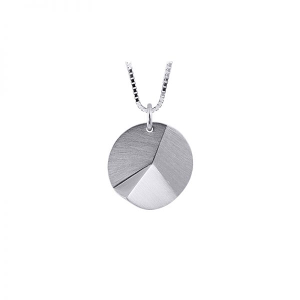 product Flake Round necklace S silver