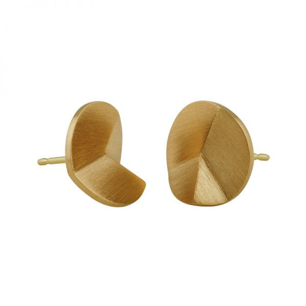 product Flake Round stud earrings M gold