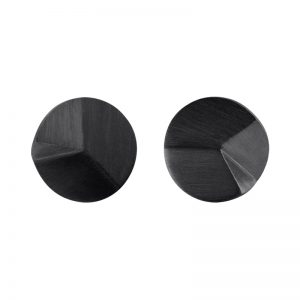 product Flake Round stud earrings M oxidized silver