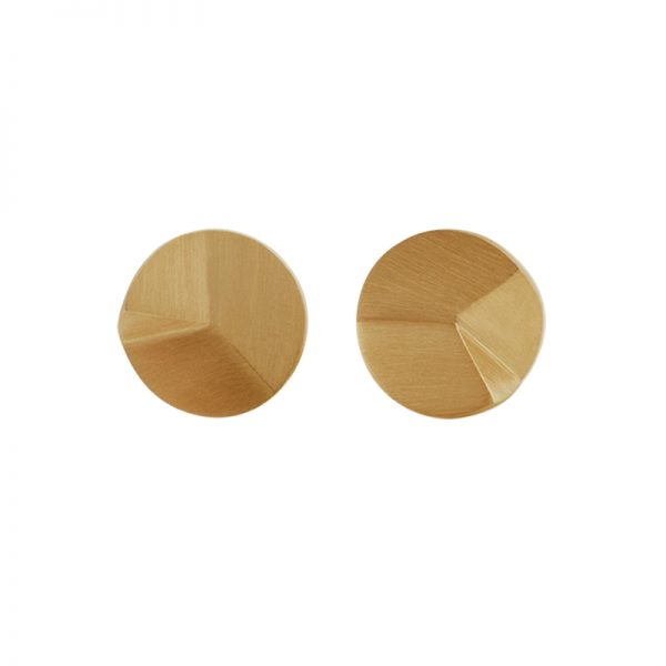 product Flake Round stud earrings S gold