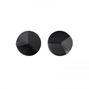 product Flake Round stud earrings S oxidized silver