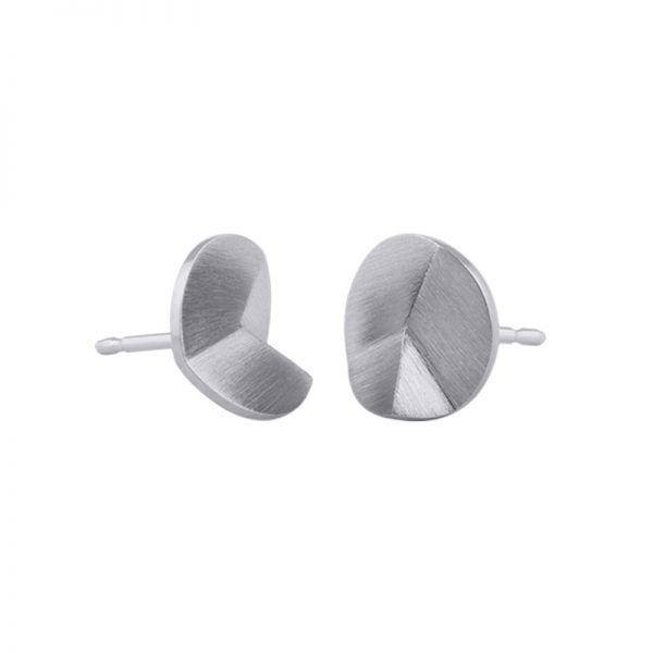 product Flake Round stud earrings S silver