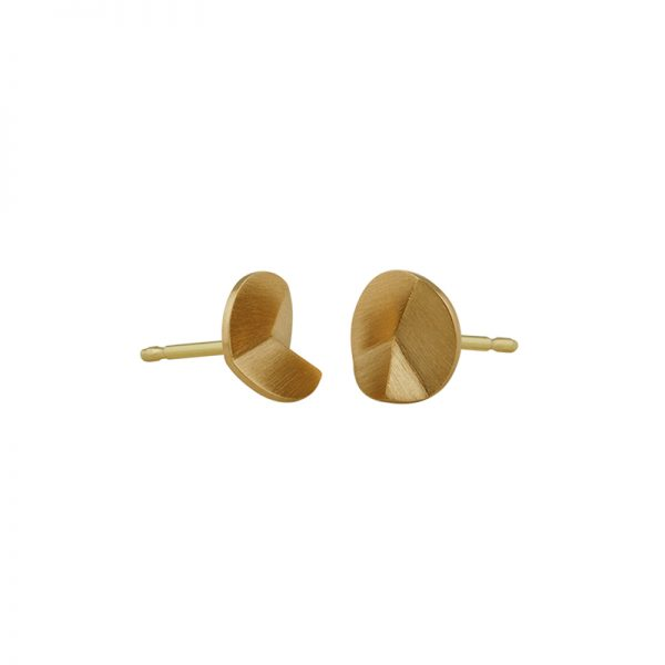 product Flake Round stud earrings XS gold