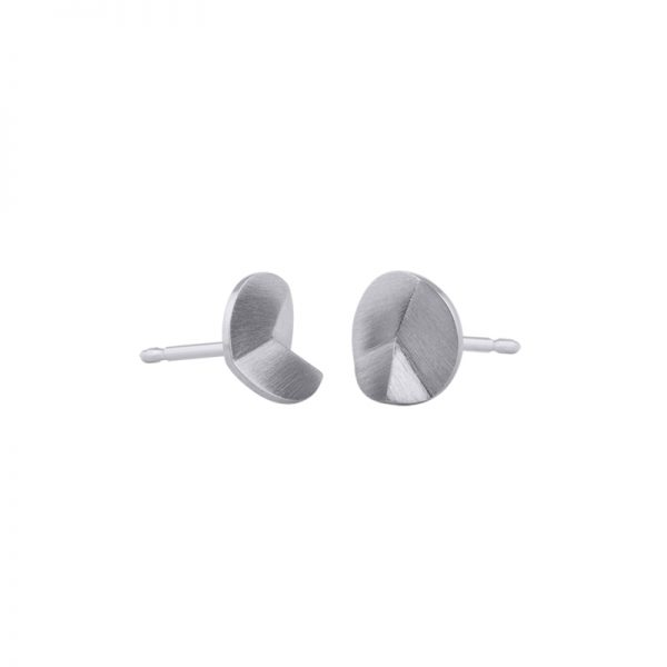 product Flake Round stud earrings XS silver