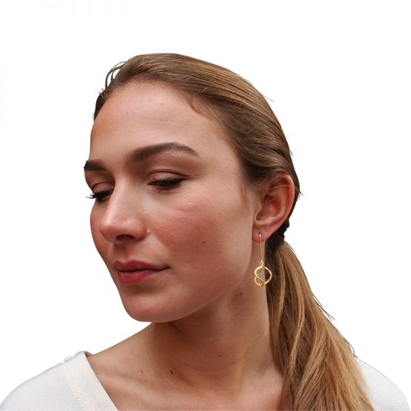 3dna earrings gold