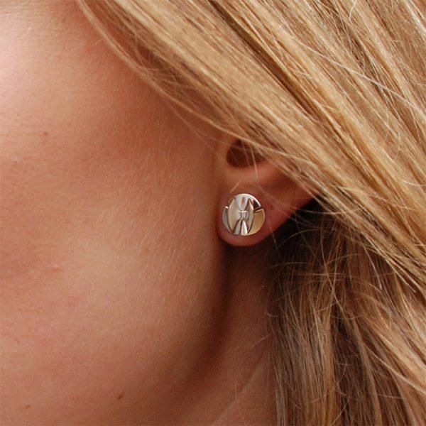 product Fan Sphere stud earrings XS silver