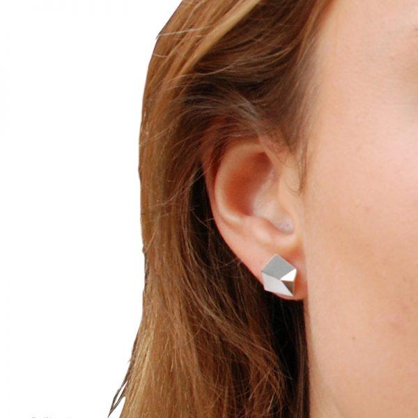 product Flake stud earrings S silver