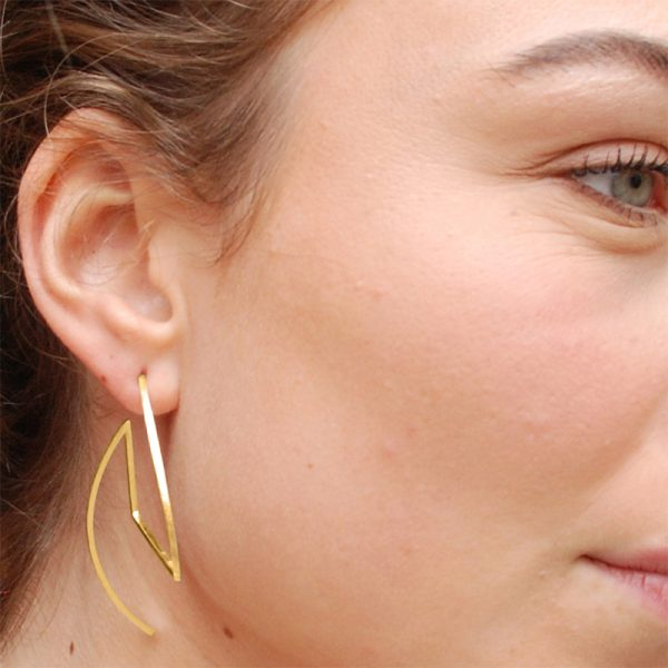 product Fold earrings gold
