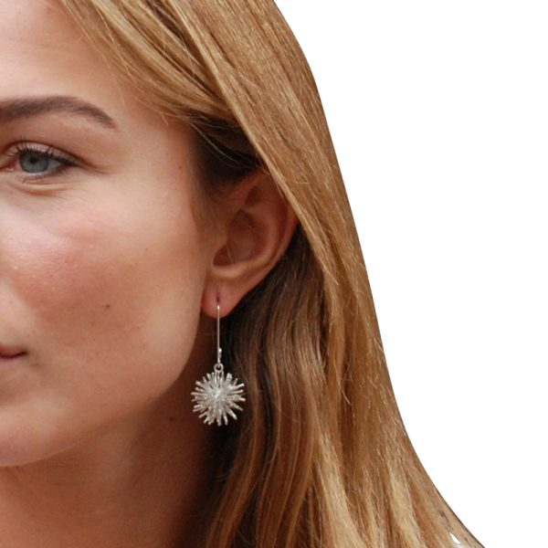 product Pompon earrings silver