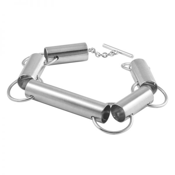 product tube bracelet silver