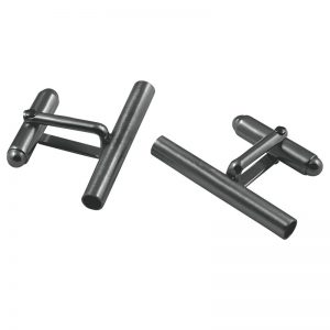 product tube cufflinks 1 oxidized silver