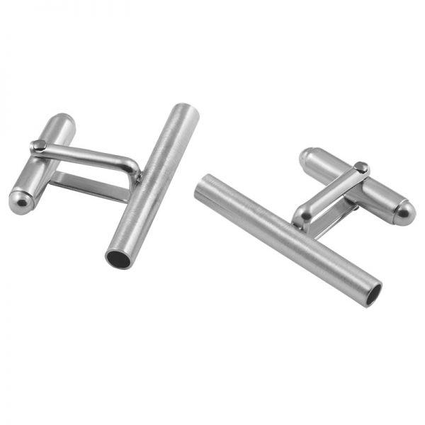 product tube cufflinks 1 silver