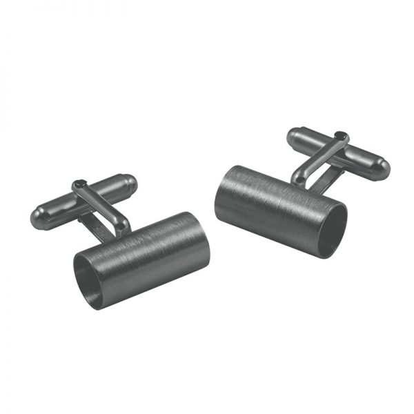 product tube cufflinks 2 oxidized silver