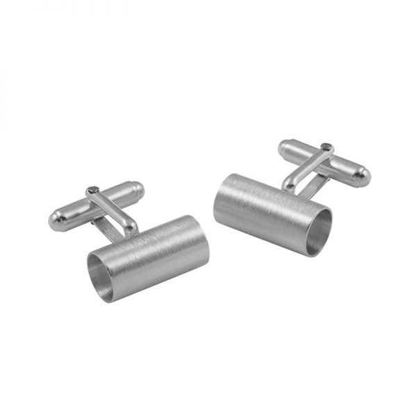 product tube cufflinks 2 silver