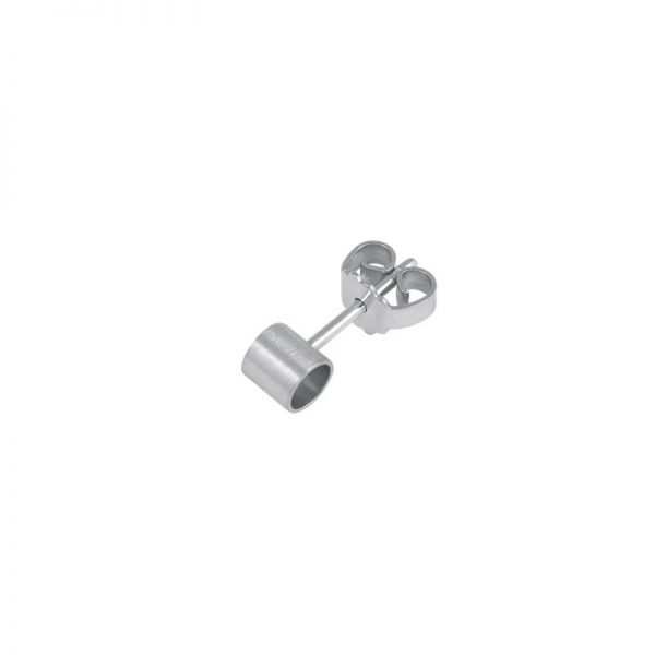product tube earring 1 silver
