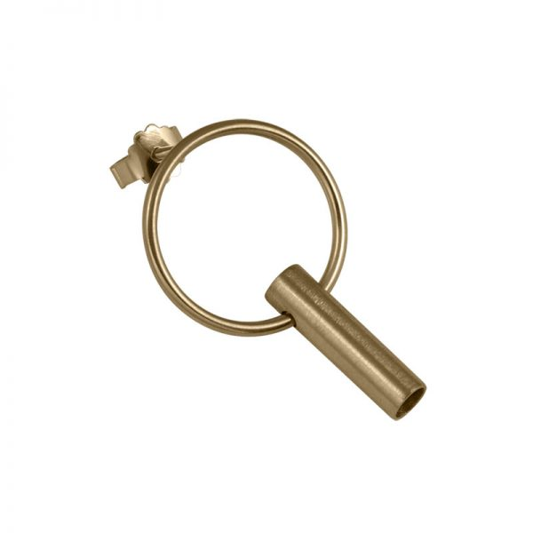 product tube earring 7 gold