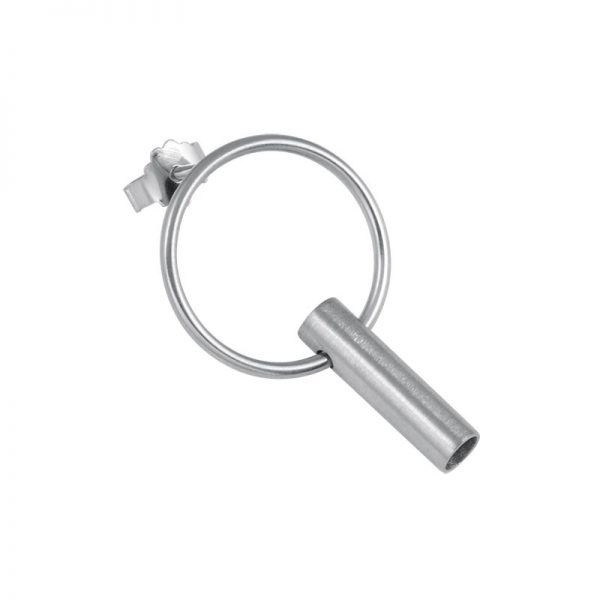 product tube earring 7 silver
