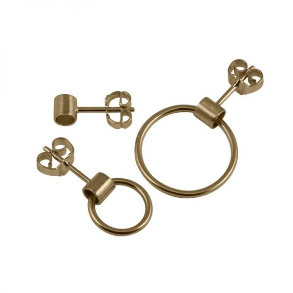 product tube earring 1, 5 and 6 gold