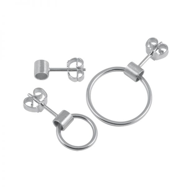 product tube earring 1, 5 and 6 silver