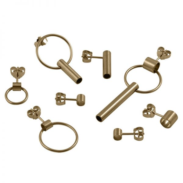 product tube earring gold
