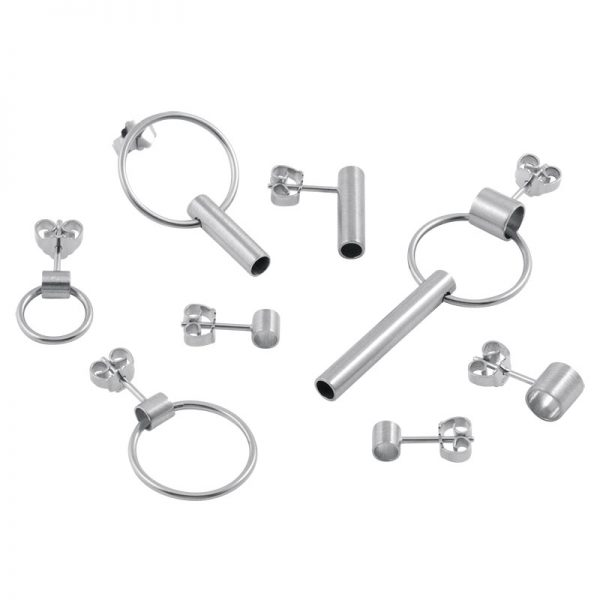 product tube earring silver