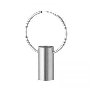 product tube hoop earring 2 silver