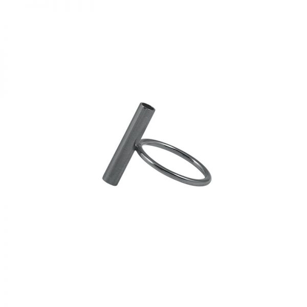 product tube ring 1 oxidized silver