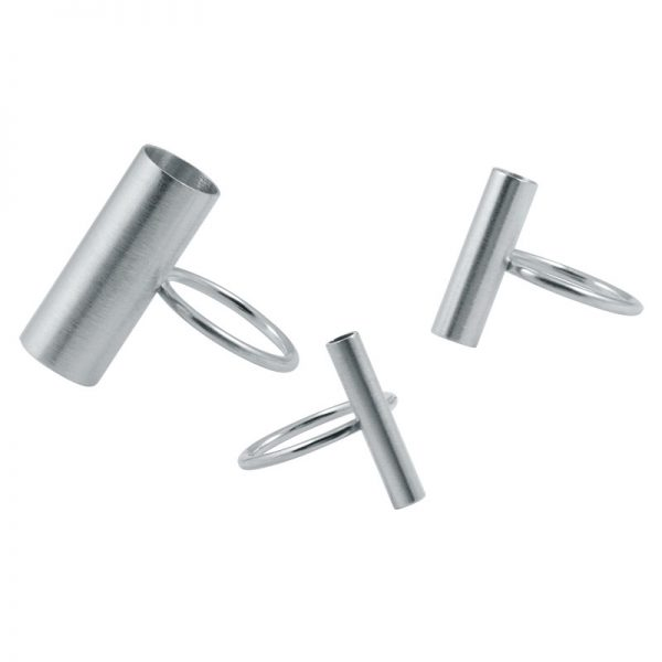 product tube rings silver